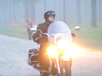 John Clay on Moto Guzzi California Vintage during MS Breakaway to the Beach 2011