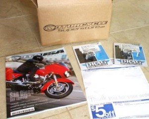 Motorcycle Superstore replacement bulb order with free MotoUSA   magazine