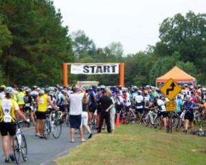 Bike MS Breakaway to the Beach day 2 start at Green Sea Floyds