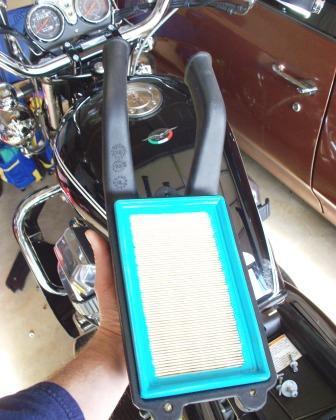 Moto Guzzi California air filter and airbox cover