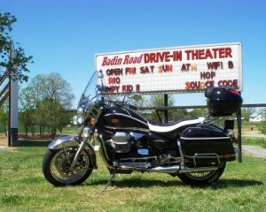 Guzzi California Vintage at Badin Road Drive-In Theater