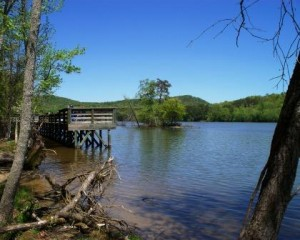 Morrow Mountain fishing pier
