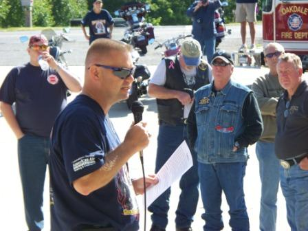 Leon leading riders at Firehouse Run 2011