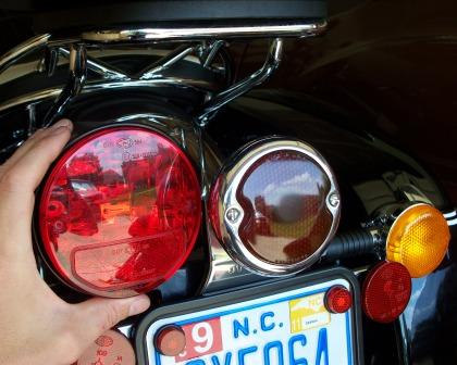 Guzzi California Vintage Tail Light old and new