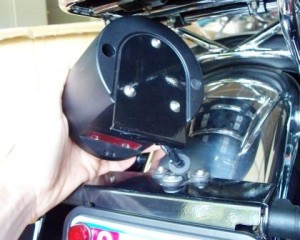 Guzzi California Vintage tail light bracket failure