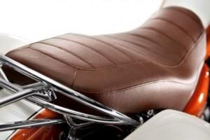Guzzi California 90 brown leather seat