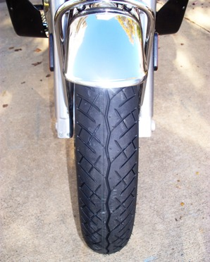 BT45 front tire on Guzzi California