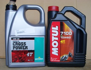 10w60 synthetic oil 4t Motorex and Motul