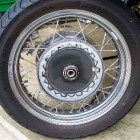 2007 Moto Guzzi California Vintage rear wheel
