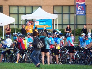 Bike MS Breakaway to Beach Monroe NC start 2012