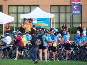 Bike MS Breakaway to Beach Monroe NC start 2012