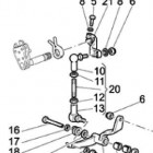 Moto Guzzi California Vintage gear shift lever diagram