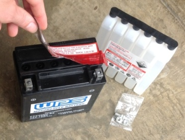 how to fill new motorcycle battery with acid
