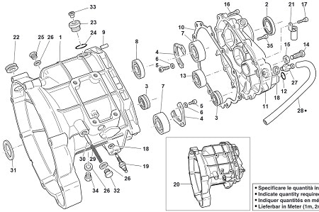 EV transmission parts diagram
