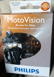 Philips MotoVision H4 bulb